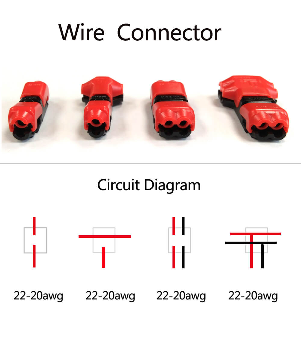 low voltage wire connectors quick splice t tap 22-20 awg