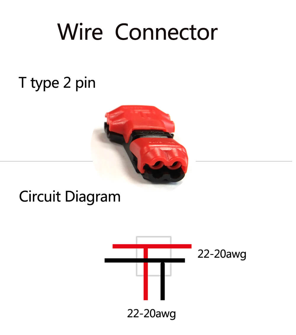 Low Voltage Wire Connectors Quick Splice T Tap 22 20 Awg Extension Cable Automotive Wiring Connector For Lighting Usageac Jxd T2