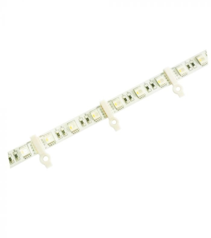 Alightings-100pcs-Mounting-Brackets-Clip-for-LED-Strip-Light-One-Side-Fixing-100pcs-Screws-Included-0.42inch-Hollow-Distance-Ideal-for-10mm-Wide-PCB-50505630-SMD-LED-Non-waterproof-Strips