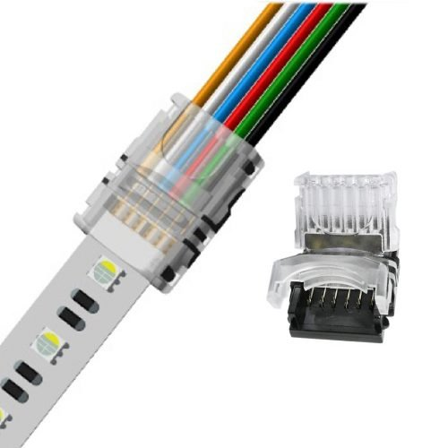 6pin led light strip connectors for 12mm rgb+cct led strip lights