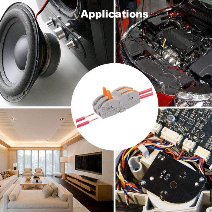 Lever-Nuts Compact Wire Conductor Connectors - DIY Splicing into 2/3/4/5